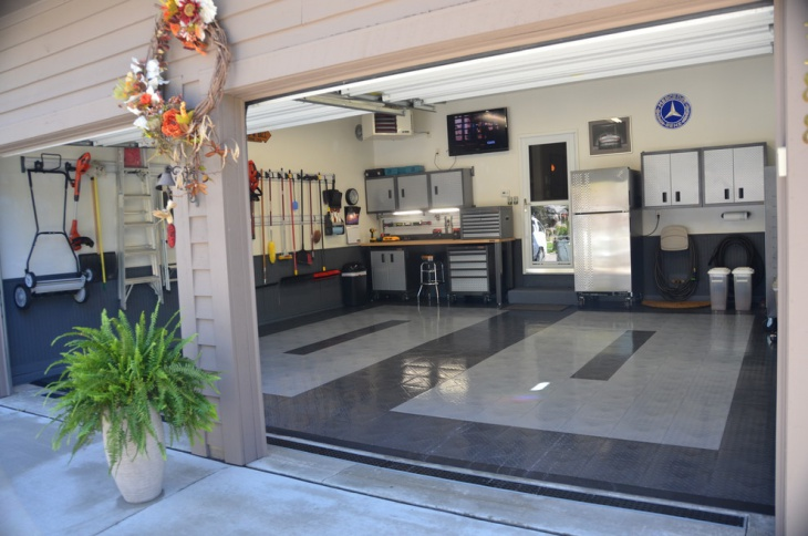 Garage flooring tiles designs ideas design trends