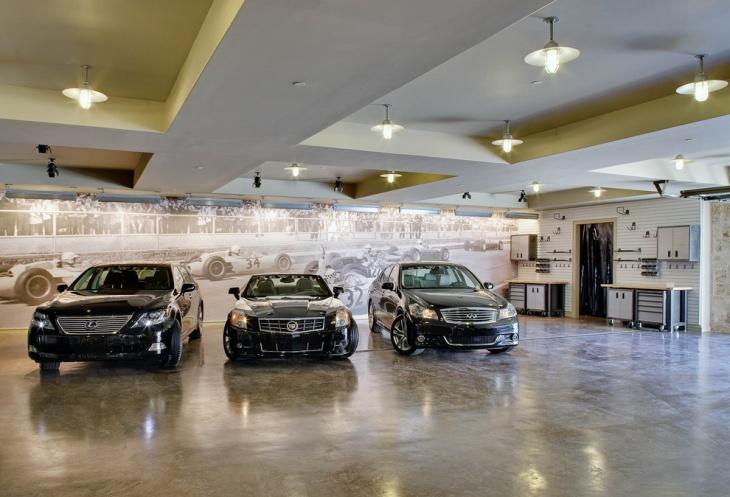 Gray Concrete Flooring Garage