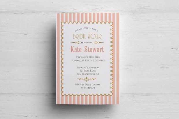 Retro Bridal Shower Invitation
