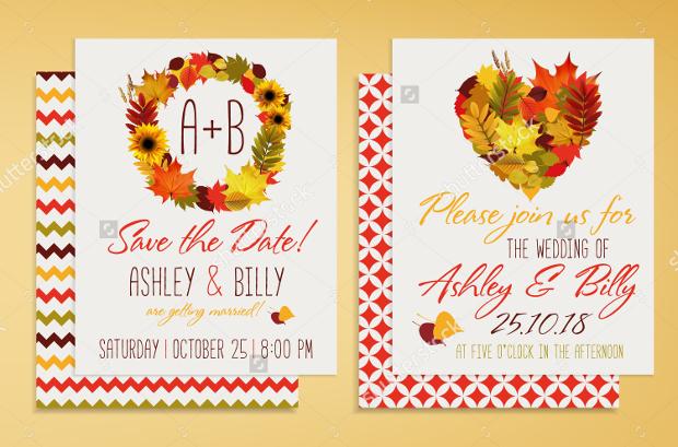 Fall Bridal Shower Invitation Template