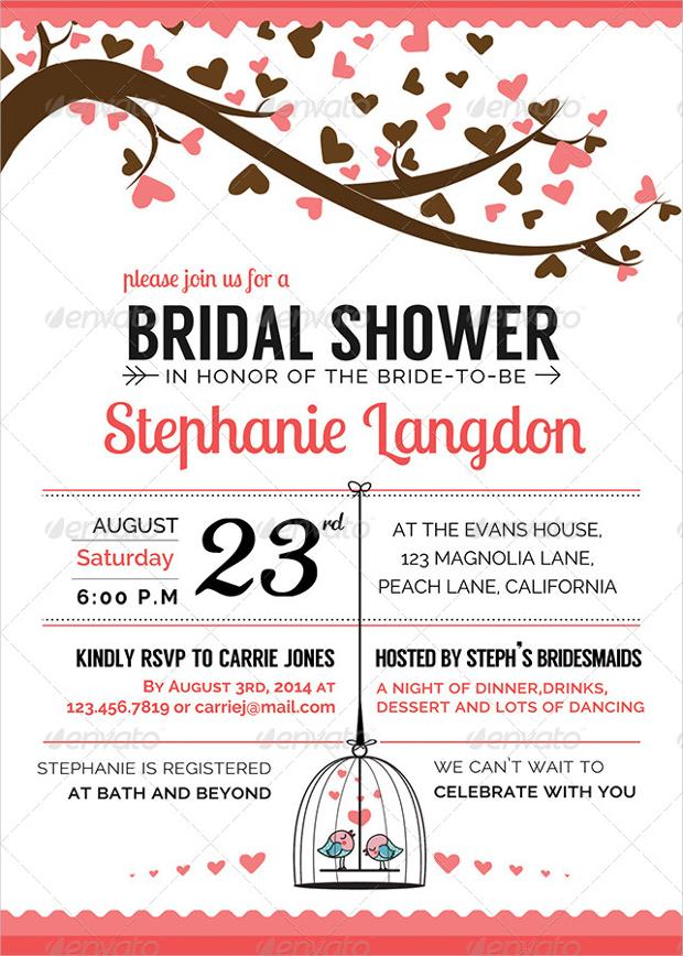 Illustrated Bridal Shower Invitation