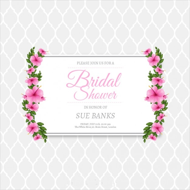 22 bridal shower invitation templates printable psd ai vector floral bridal shower invitation vector stopboris Choice Image