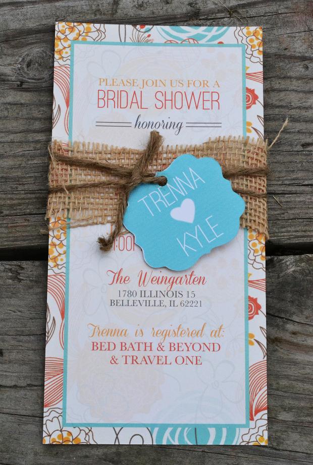 Rustic Bridal shower Invitation Design