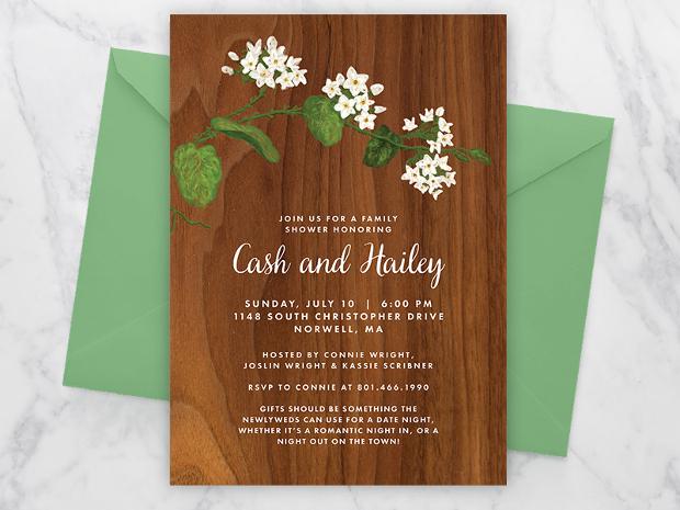 Mayflower Bridal Shower Invitation