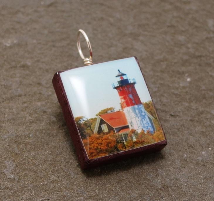 handmade lighthouse pendant