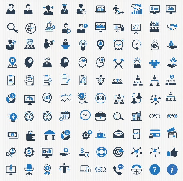 High Resolution Business Icons