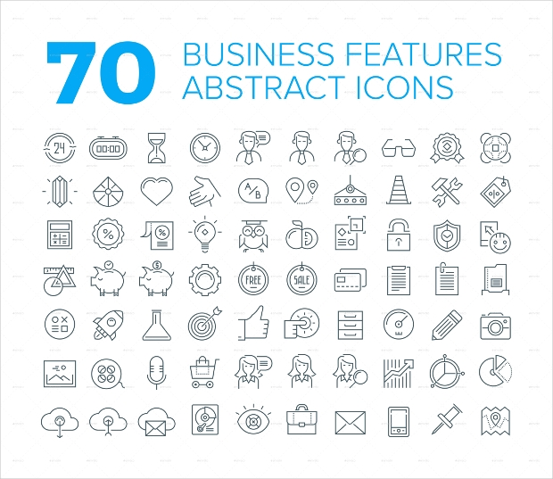 70 Abstract Company Icons