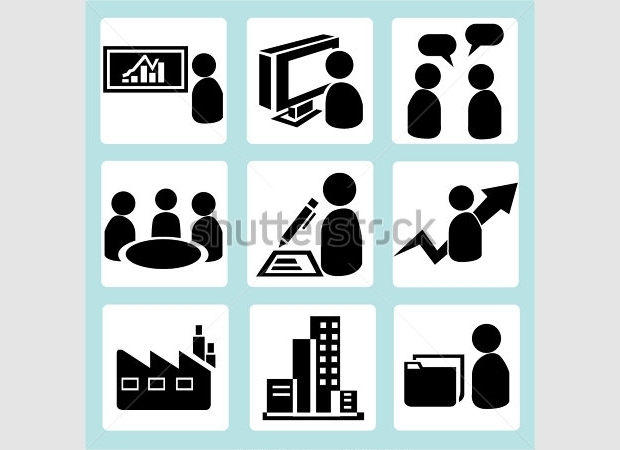 Black and White Company Icons