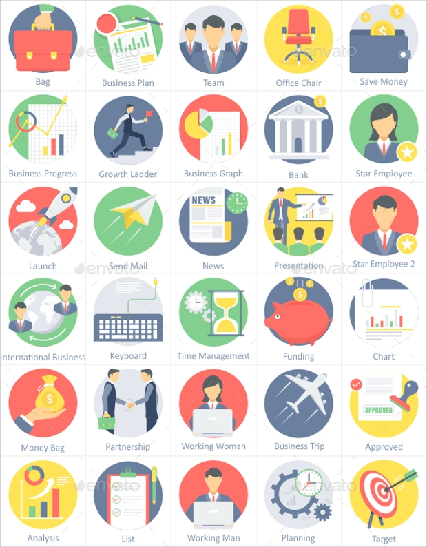 Company & Business Flat Icons