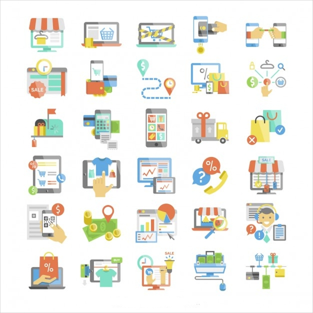 Colorful Business Company Icons Collection
