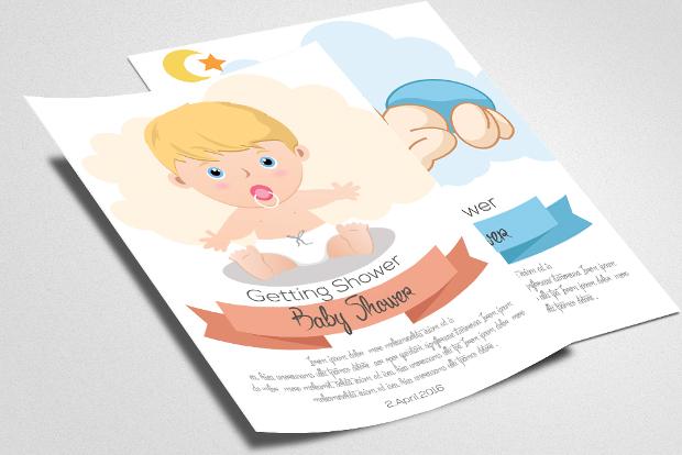Girl Baby Shower Invitation Flyer
