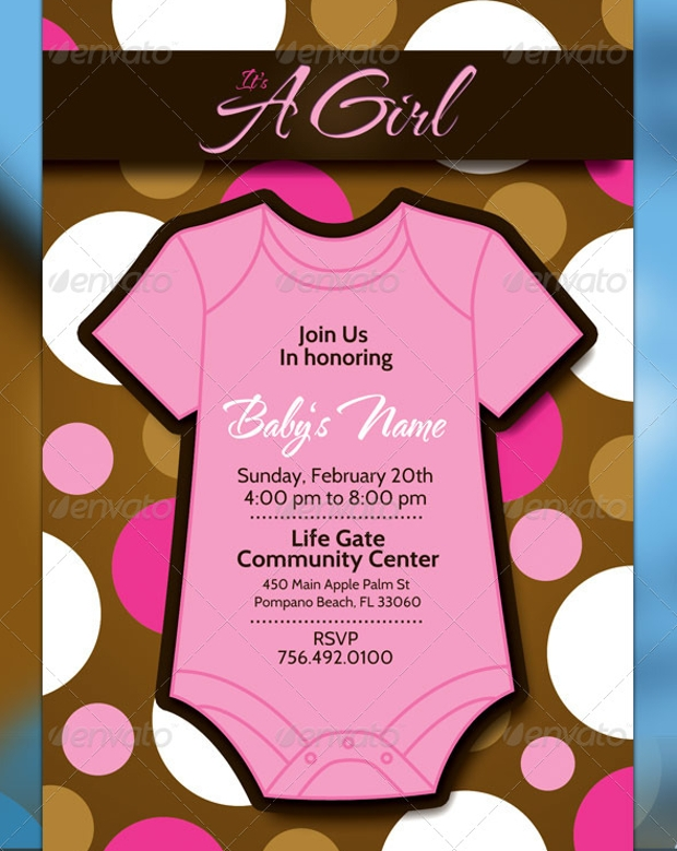 Photoshop PSD Baby Shower Flyer  Baby Shower Flyer Templates Free