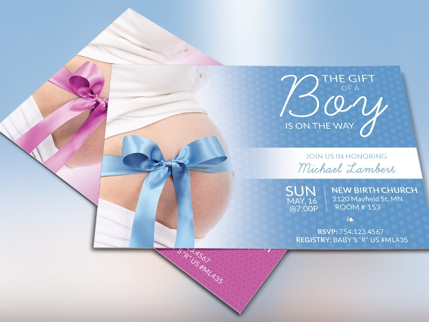 baby shower flyer design