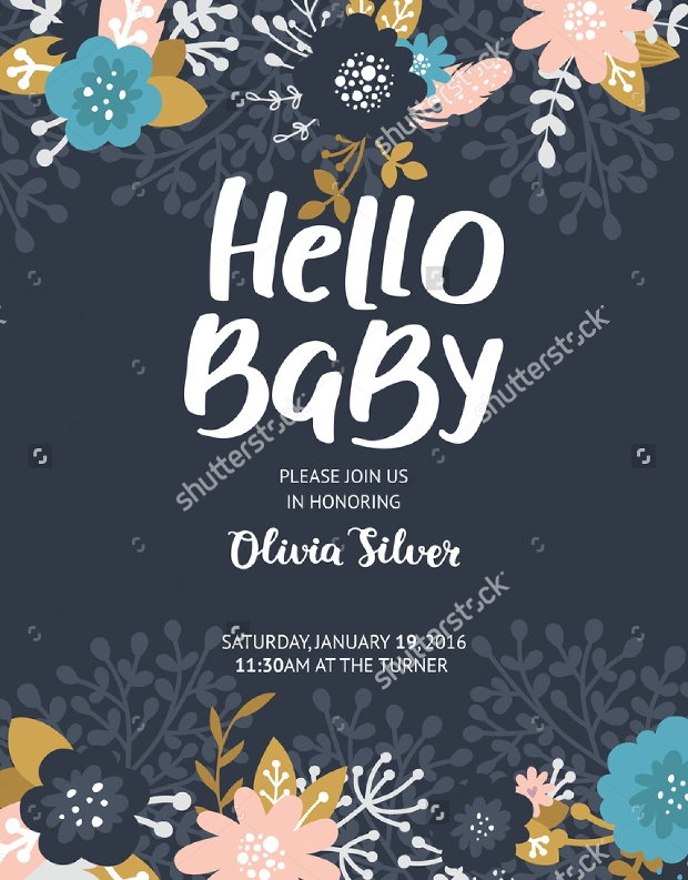Printable Baby Shower Flyer Template  Baby Shower Flyer Templates Free