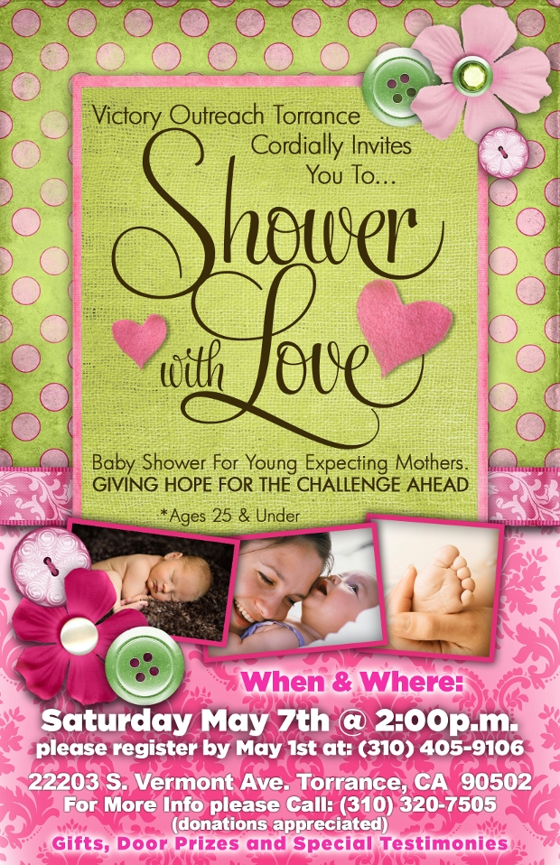 baby shower with love invitation