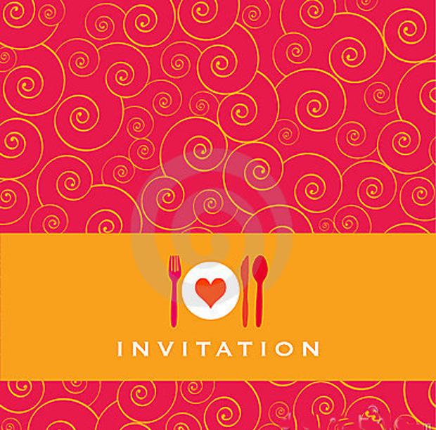 Continental Food Party Invitatio