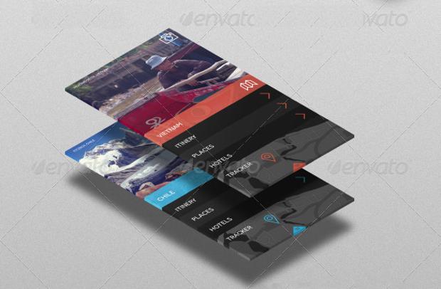 3d isometric app screen mockup