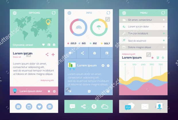 mobile app interface design mockup