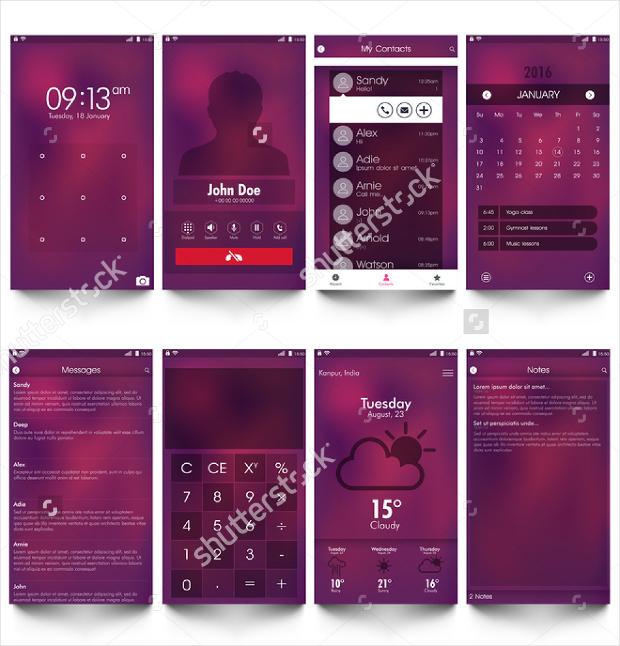 responsive app screen mockup