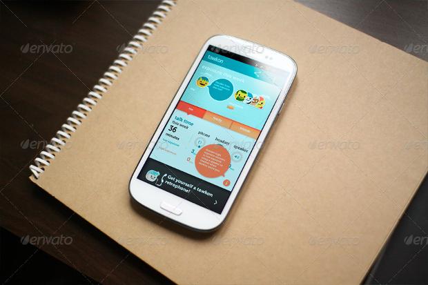Android App Screen Mockup