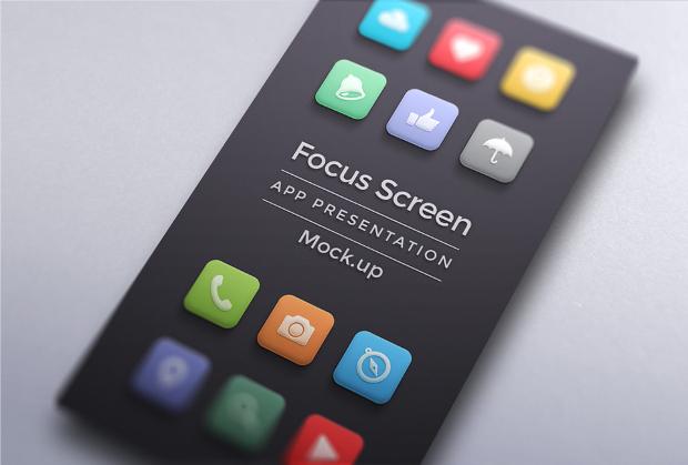 minimal screen app mockup