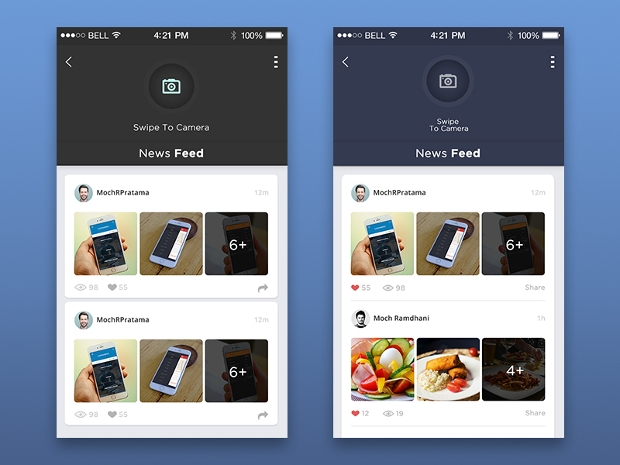 News Feed App Screen