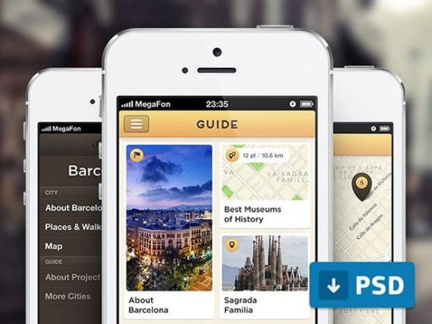 city guide mobile app screen