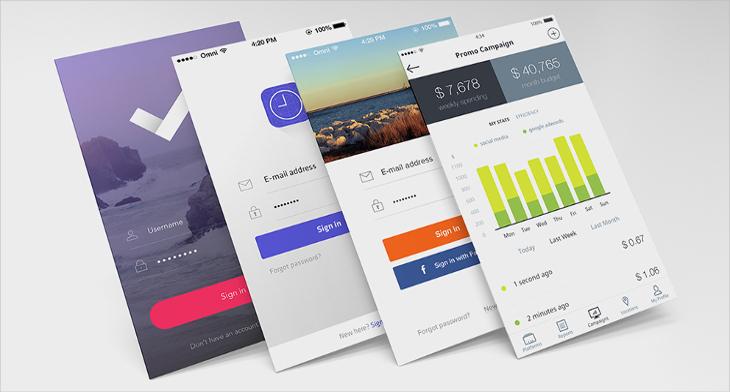 17 app screen mockups psd download design trends premium psd