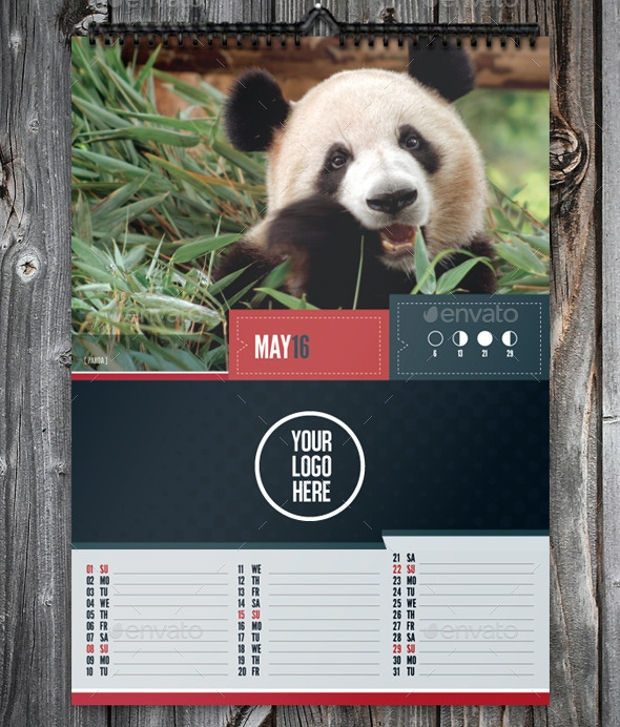 stylish corporate marketing calendar