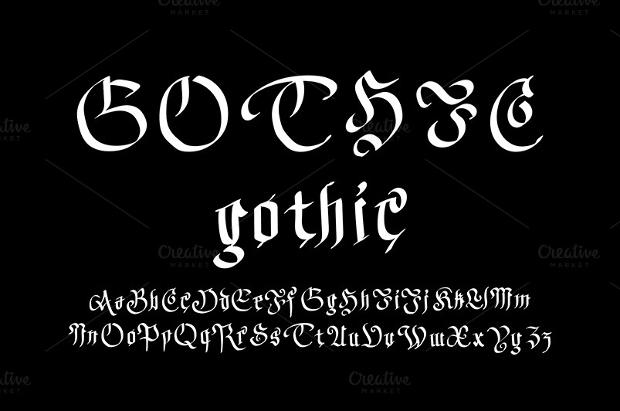 gothic stylish font