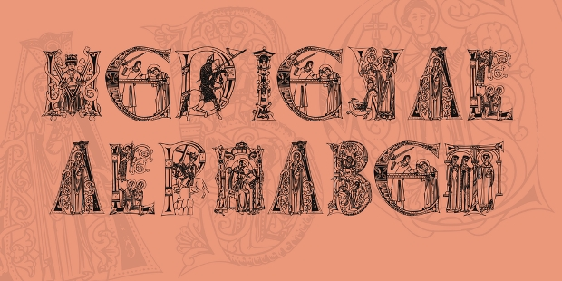 medieval alphabet font