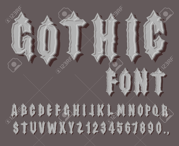 Medieval Gothic Font Style