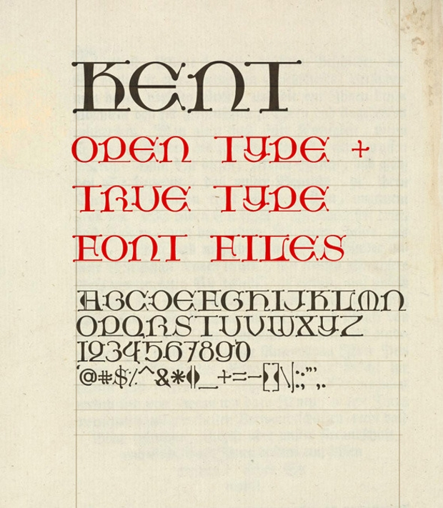 Kent Medieval Font Style