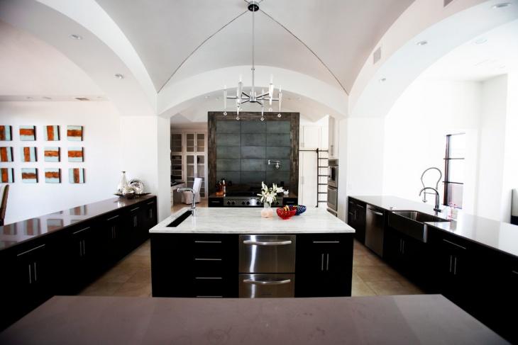 Black Kitchen Cabinet Idea