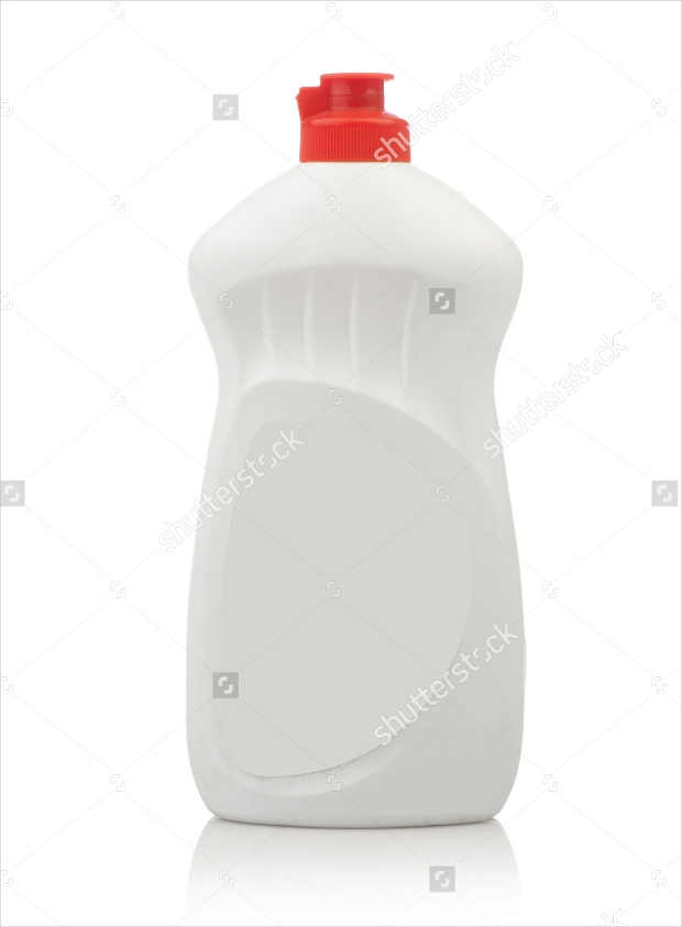 smoothie washing bottle mockup