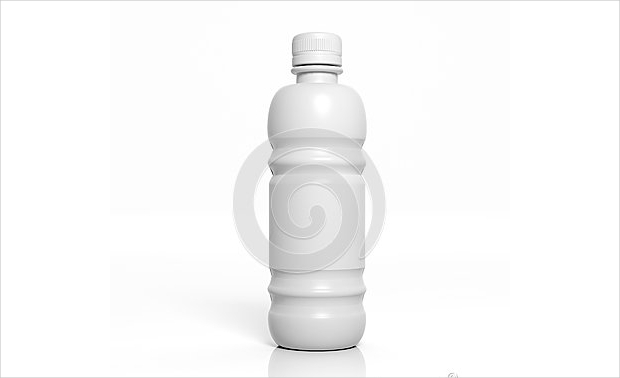3d plastic bottle mockup