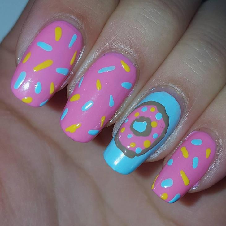 Doughnut Nail Art Designs