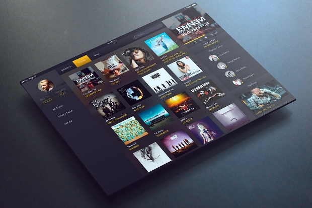 iPad Music App UI Design