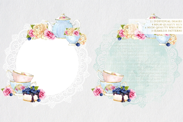 Watercolor Tea Party Invitation