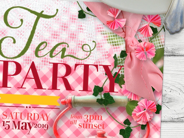 Vintage Retro Tea Party Invitation
