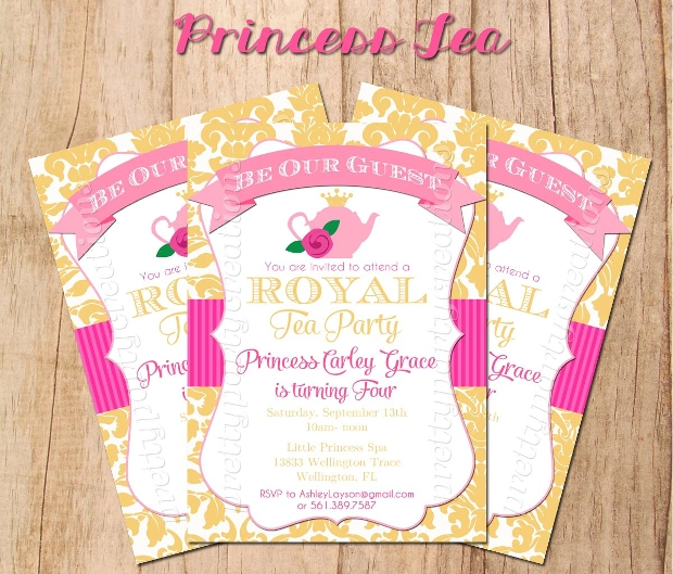 25  tea party invitation designs