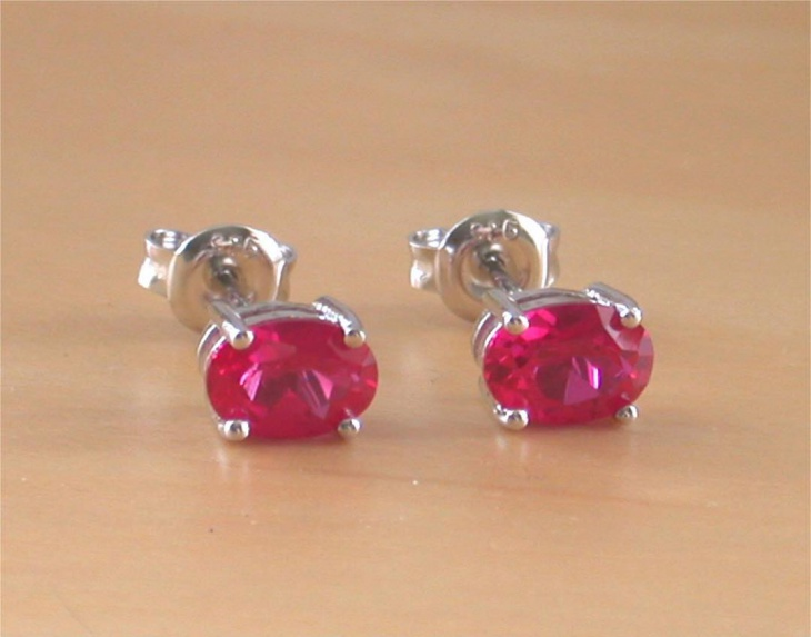 ruby birthstone stud earrings