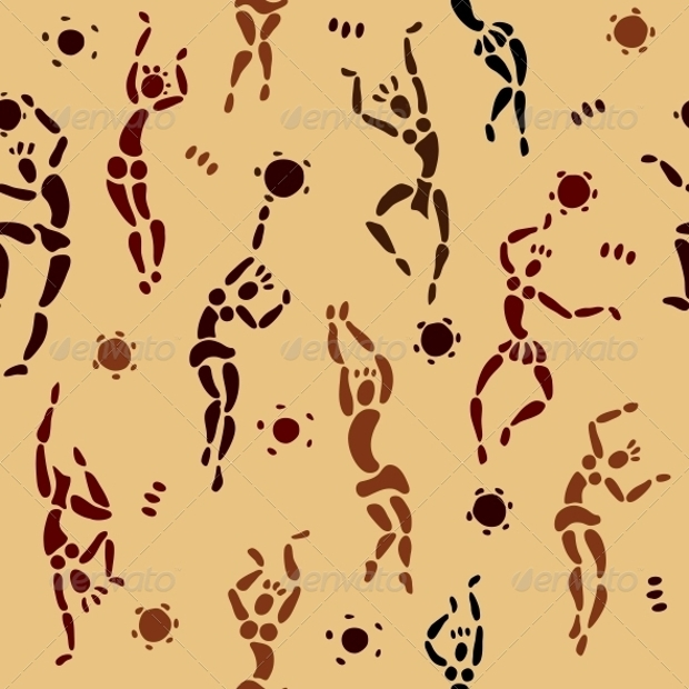Abstract PSD Ethnic African Pattern