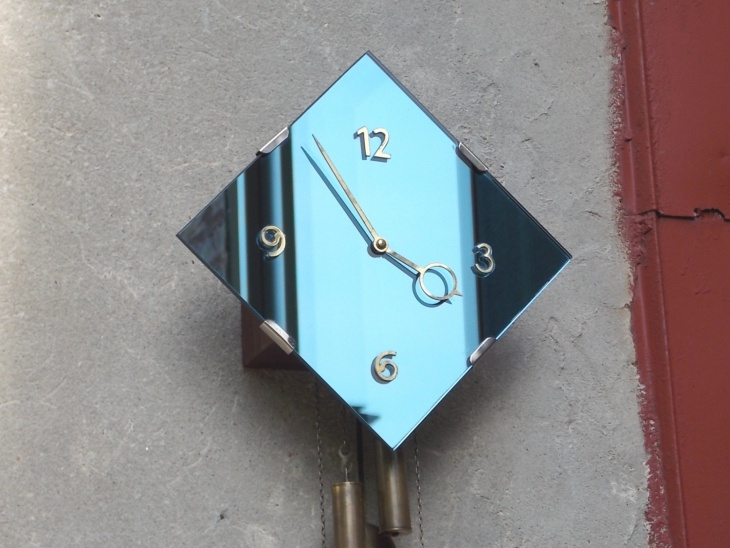 Blue Pendulum Wall Clock