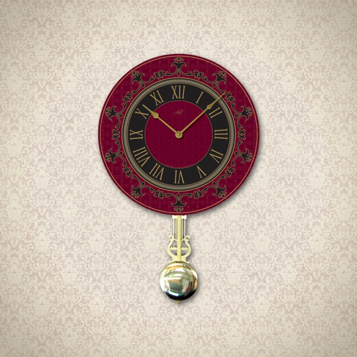 Retro Pendulum Wall Clock Idea