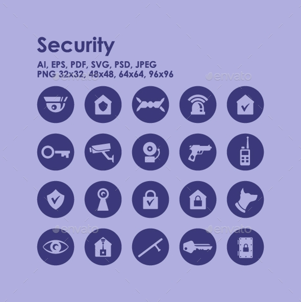 High Quality Security Icons