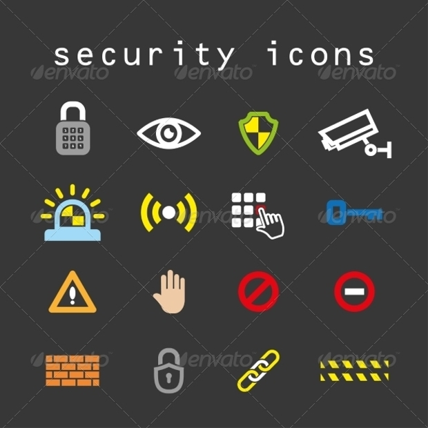 High Resolution Security Icons
