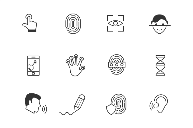 Biometric and Security Icons