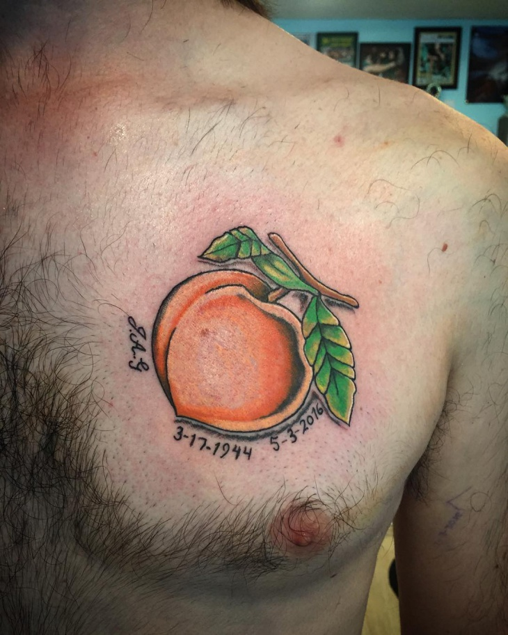 georgia peach tattoo design