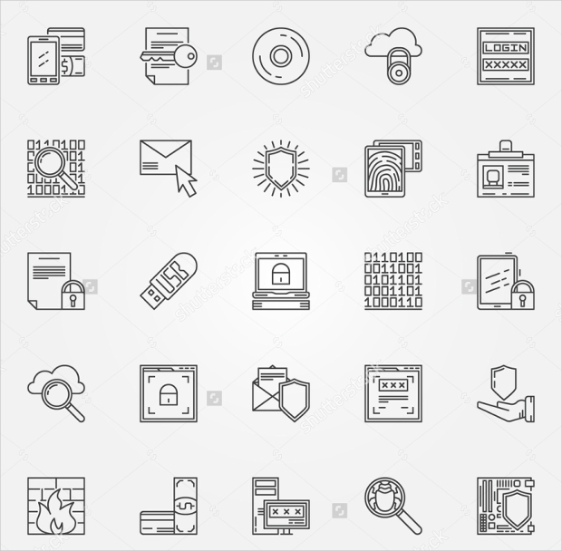 Internet Security Vector Icons